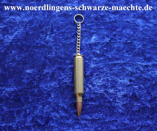 Schlüsselanhänger Dekopatrone Messinghülse 5,56 × 45 mm NATO (.223 Remington)